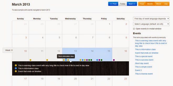 Weekly Calendar Bootstrap : Html use bootstrap calendar full view
