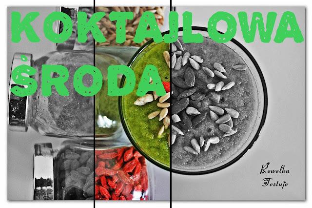 Koktajlowa środa - zielony koktajl z młodym jęczmieniem i jagodami goji