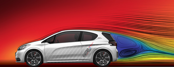 Peugeot 208 Hybrid FE wind tunnel