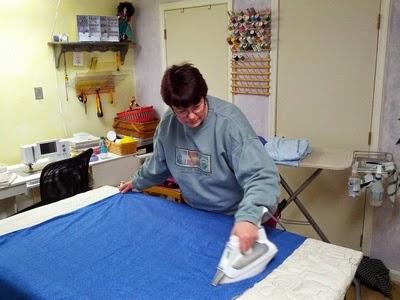 Fabric pressing