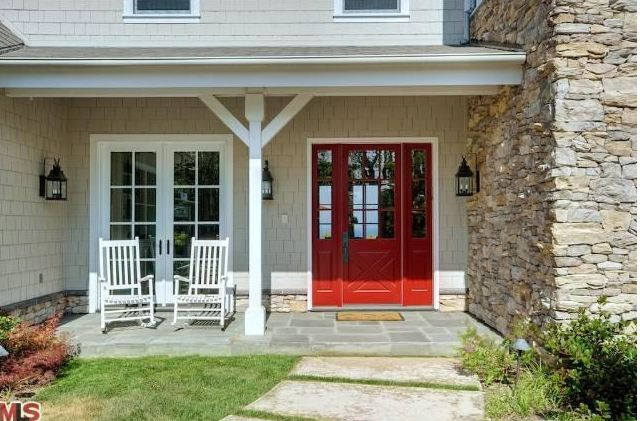 Cape Cod Style House with Red Door