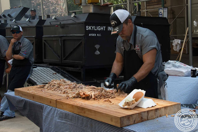 Image of BBQ pit and Whole Hog at Skylight Inn at 11th Annual Big Apple BBQ Block Party at Madison Square Park!
