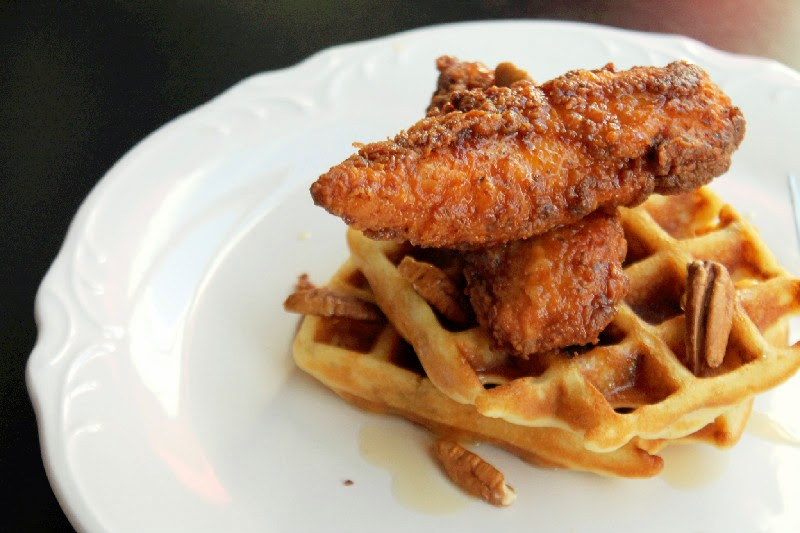 ... : Contessa's Chicken and Buttermilk Pecan Waffles with Maple Syrup