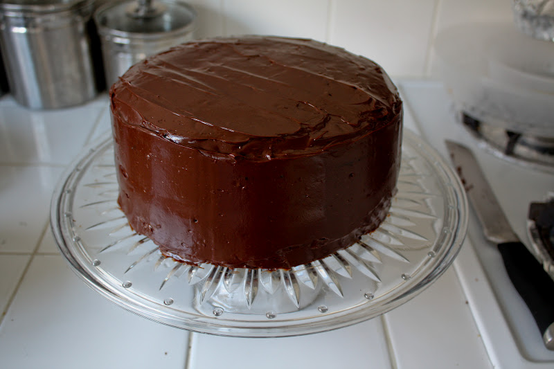 Chocolate Cake w/Dark Chocolate Ganache Frosting (contains gluten ...