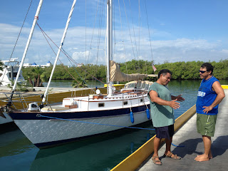 Felix and Nazario at the Puerto Isla Mujeres haul-out basin