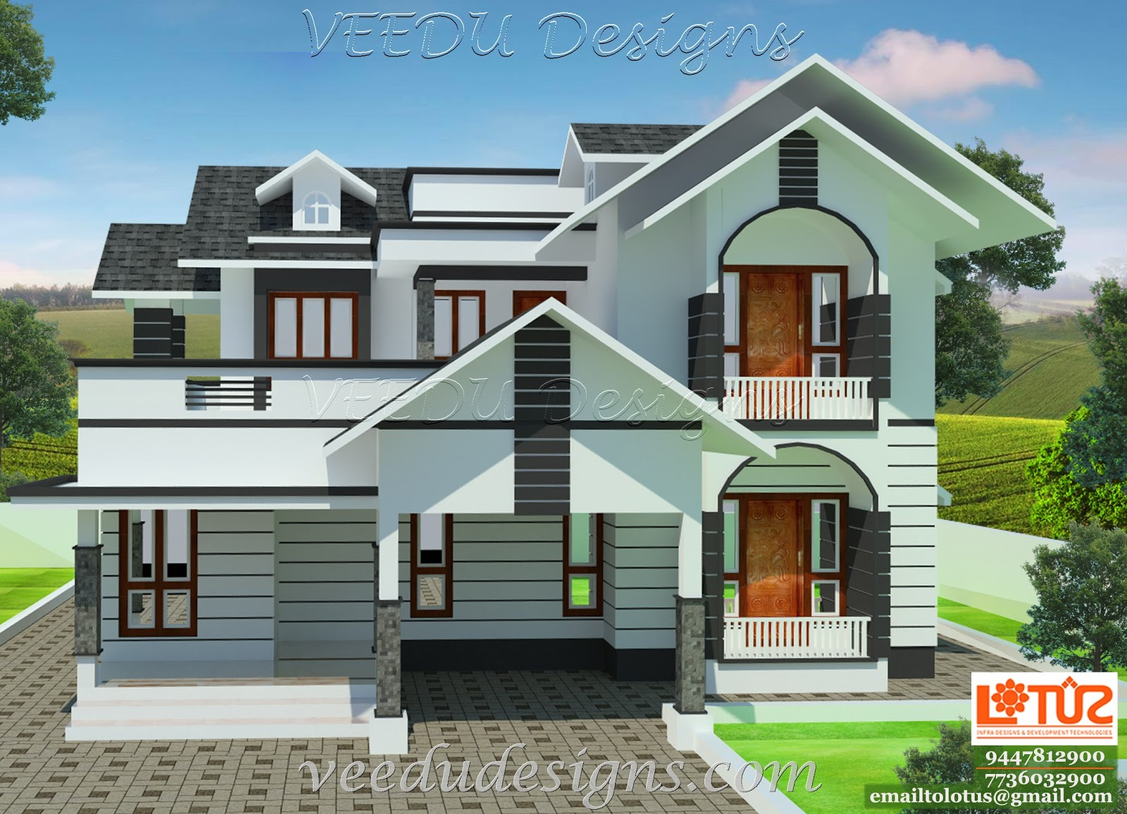 Veedu designs joy studio design gallery best design for Home plans gallery