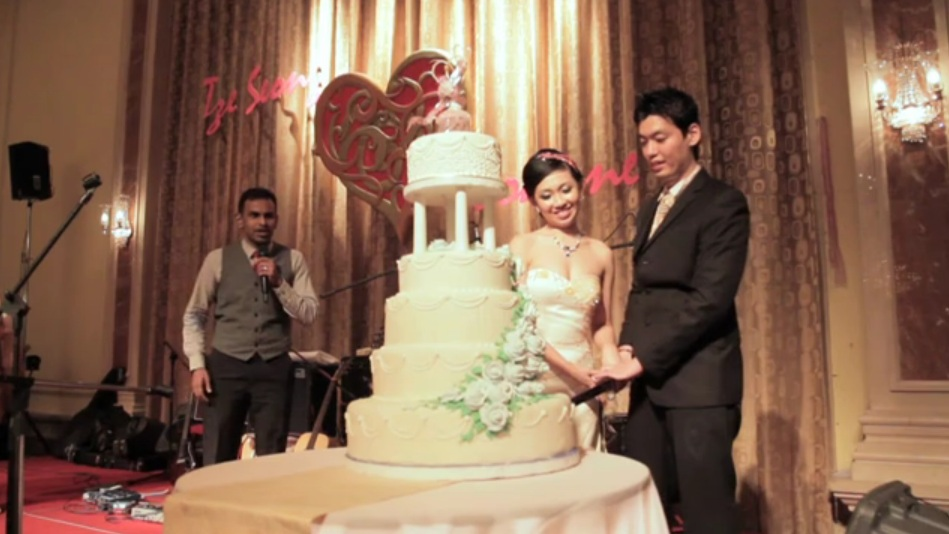 The majestic avillion legacy melaka wedding reception cake cutting junglespirit