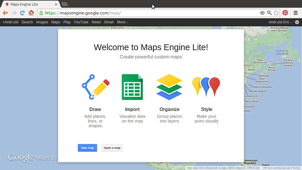 google maps engine lite beta launched free download wallpaper dawallpaperz. Black Bedroom Furniture Sets. Home Design Ideas