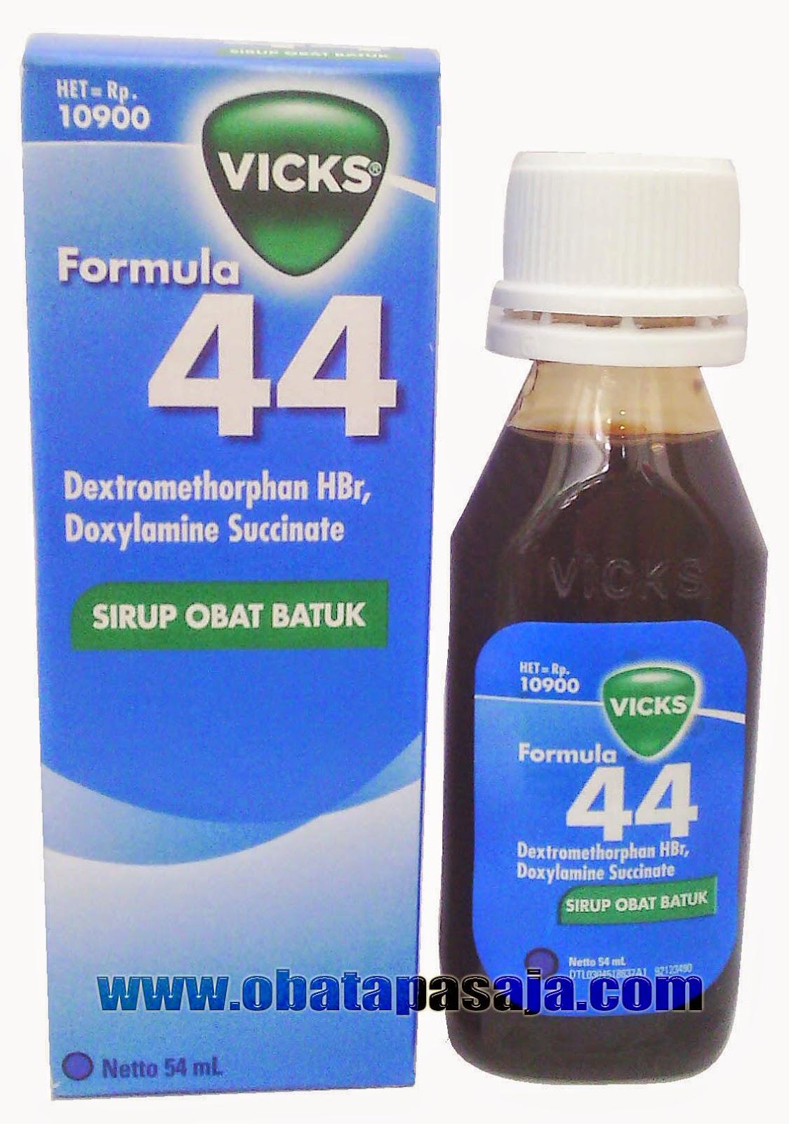 Dosis dan Komposisi Vicks Formula 44