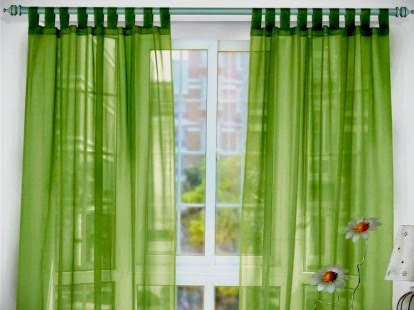 gorden rumah warna hijau