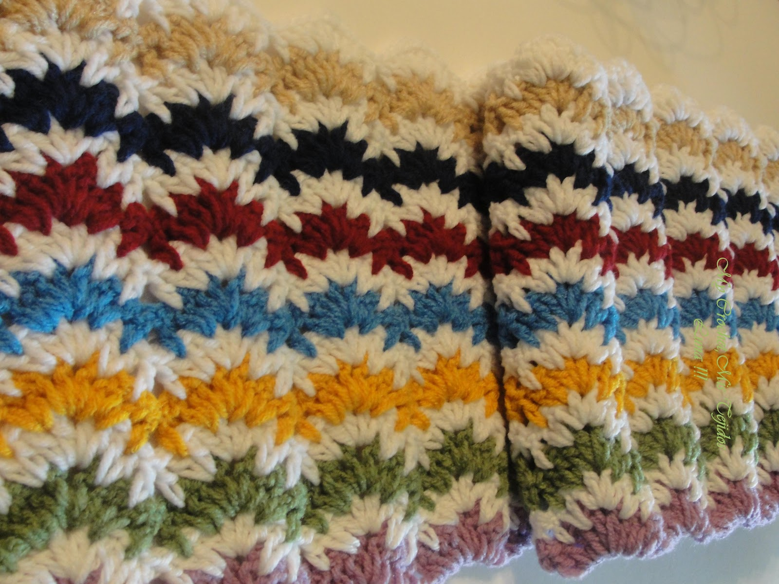Crochet Stitches Ripple : My Crochet , Mis Tejidos by Luna: Ripple Vintage Stitches in a Bed ...