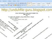 Download File Contoh Soal UAS IPA Kelas 7 8 9 SMP dan Kunci Jawaban Terbaru 2015