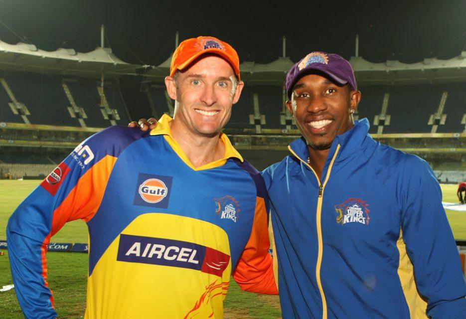 Michael-Hussey-Dwayne-Bravo-CSK-vs-KXIP-IPL-2013