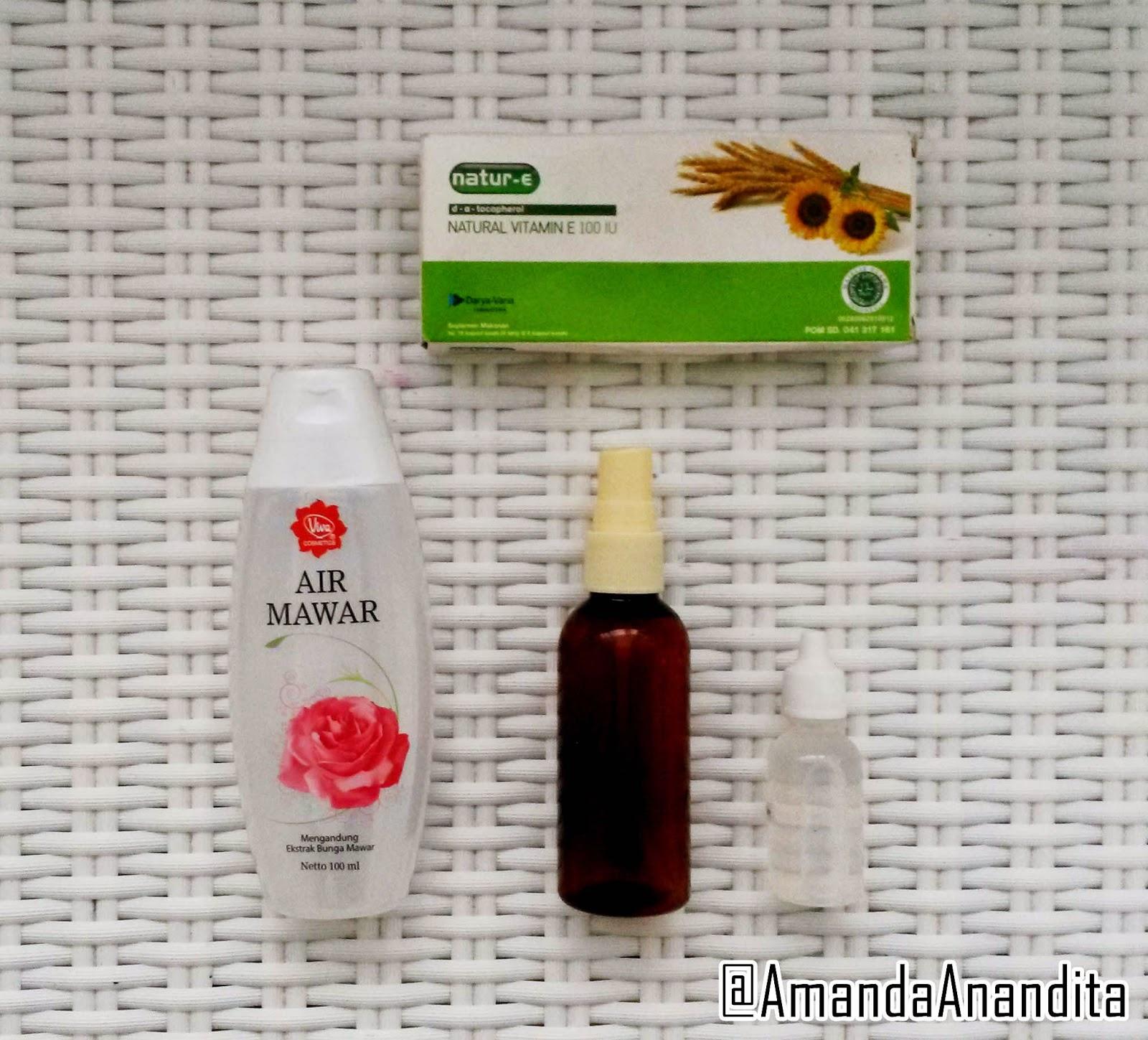 Tips Cantik By Amanda An Indonesian Beauty Blogger Diy Makeup Air Mawar Viva Resepnya Ngga Jauh Berbeda Dengan Eyeshadow Sealer Yang Aku Post Disini Ini Dia