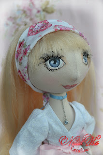 Cloth art doll Anina.
