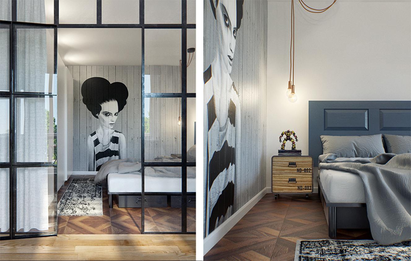 decoración fácil: un moderno apartamento con una genial