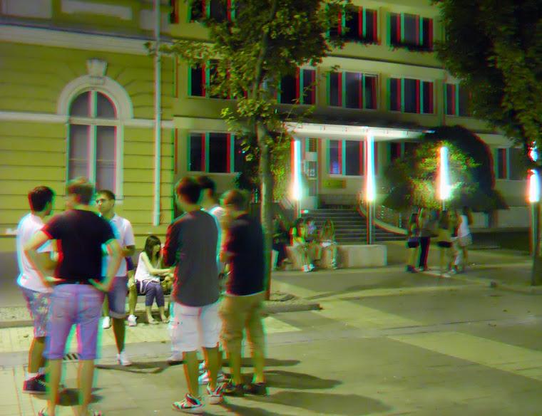 Nočni život na ulicama Šapca