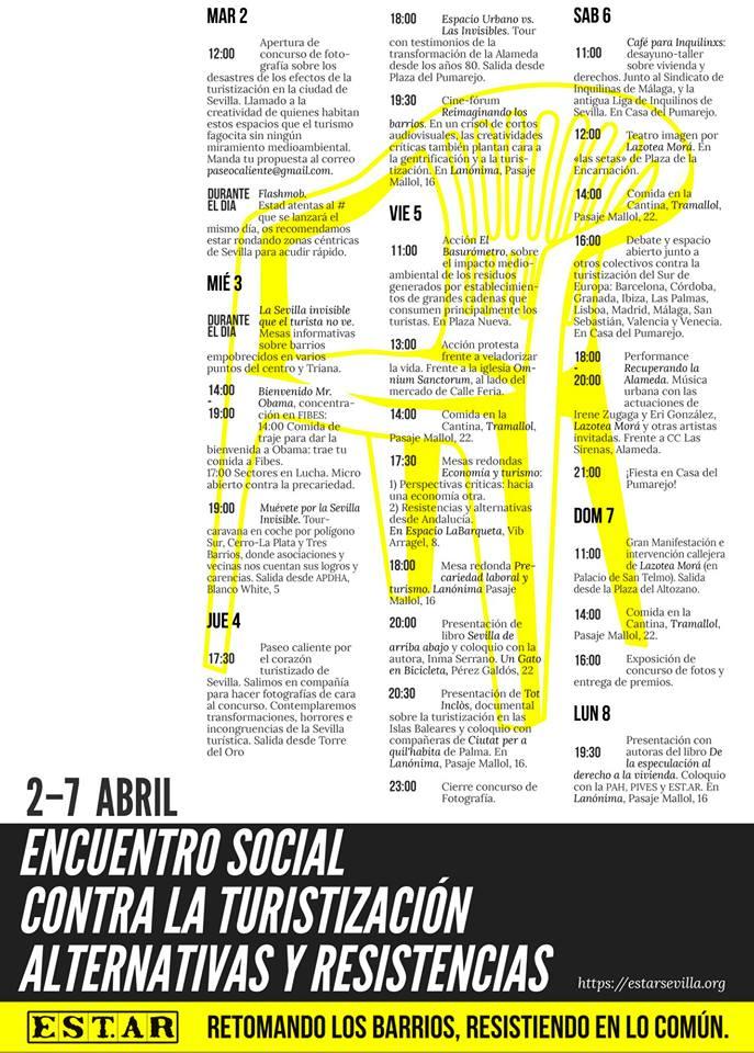PROGRAMA ESTAR (ENCUENTRO SOCIAL CONTRA LA TURISTIZACIÓN.ALTERNATIVAS Y RESISTENCIAS)