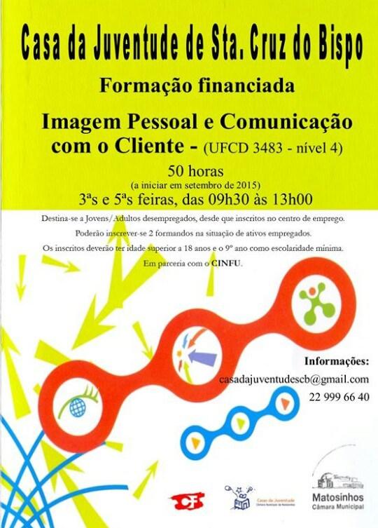 Formação financiada para desempregados /as – Matosinhos 2015 (UFCD 3483)