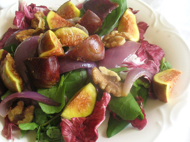 fig salad with mixed vegetables