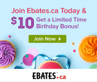 Recevez 10$ avec Ebates!