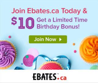 Recevez 10$ avec Ebates!