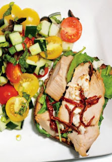 Open-Faced Turkey and Feta Sandwich Side Salad