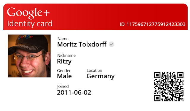 Get Your Id Cards for Google + Quickly
