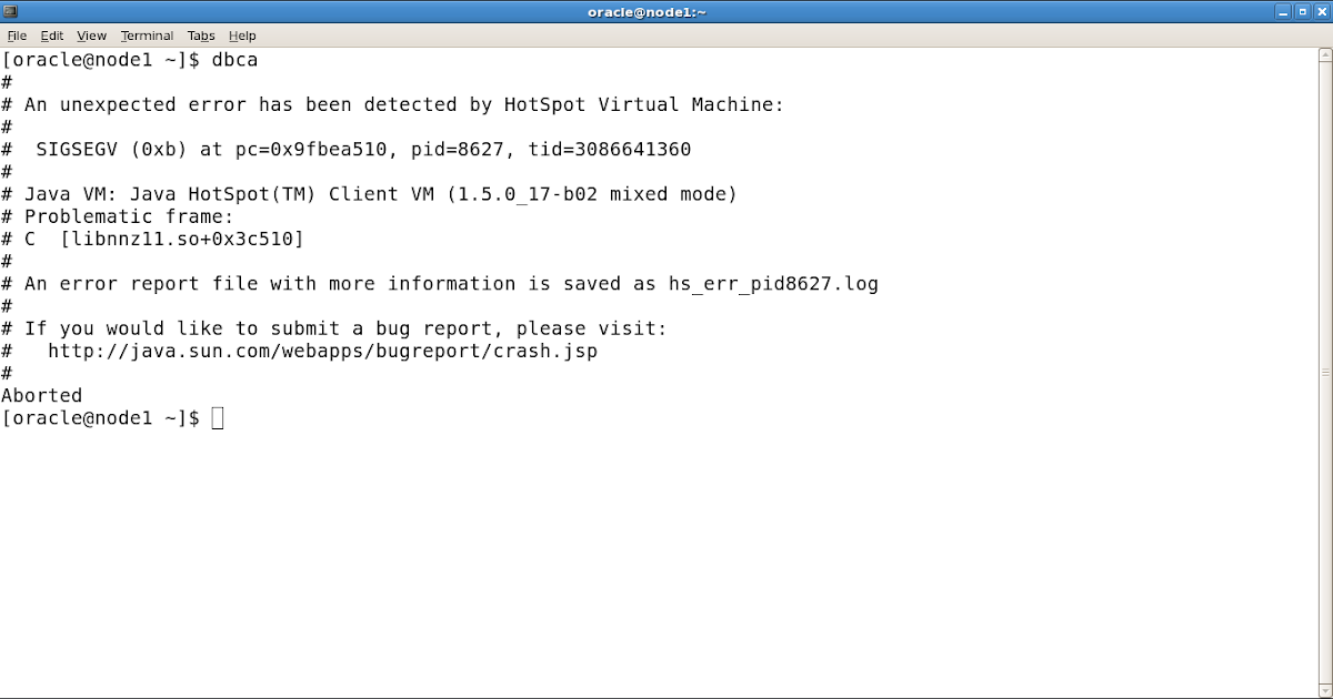 an unexpected error has been detected by hotspot virtual machine