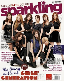Girls' Generation Sparkling Magazine Winter 2013 issue Cover