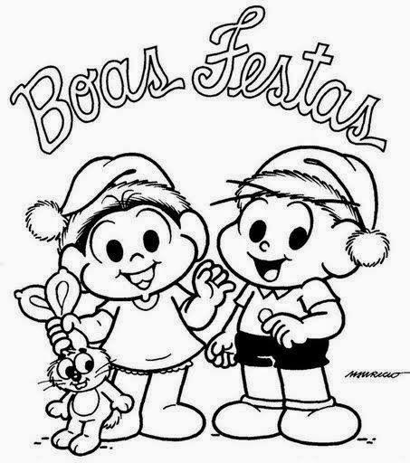 desenho monica e cebolinha feliz natal