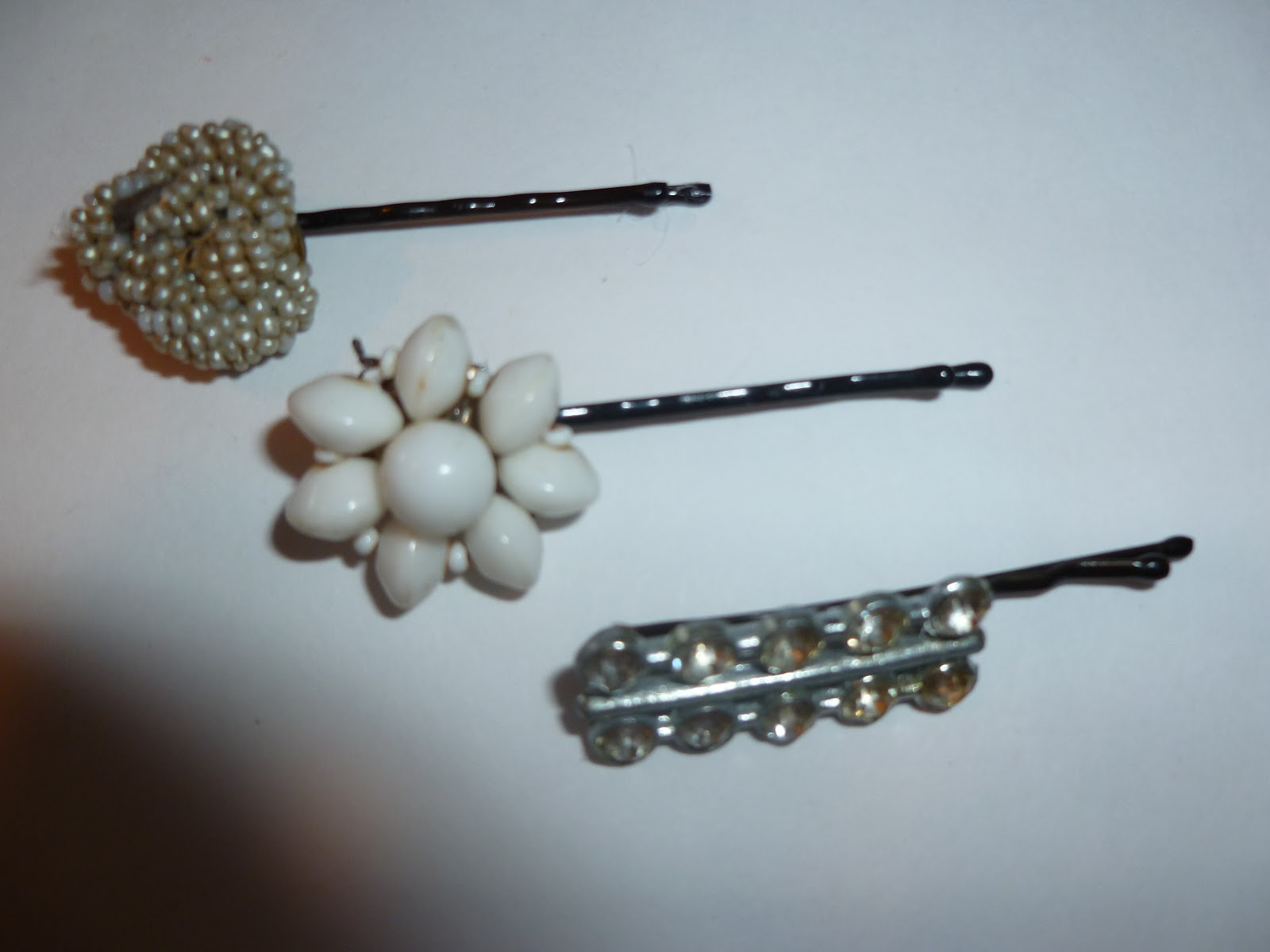 create○share○inspire: vintage earring hair pins and clips