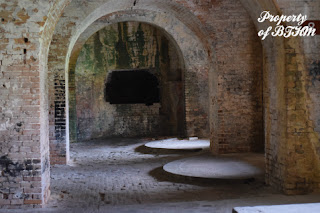 fort pickens interior cannon mounts