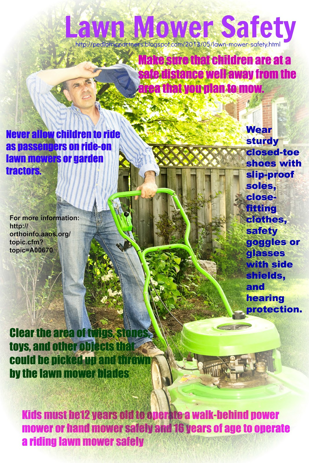 Lawn Tractor Safety : Quest for health lawn mower safety
