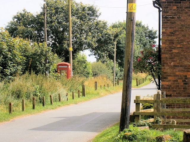old fashioned red phone box british heritage countryside