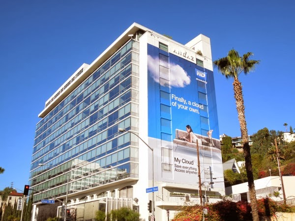 Giant My Cloud WD billboard Andaz Hotel