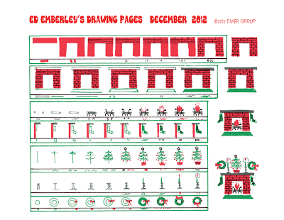 Ed Emberley's Fireplace Drawing Page