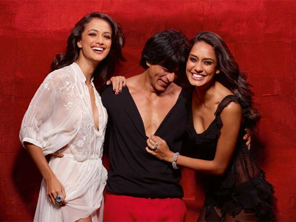 SRK Photoshoot with two hot models1 - Shah Rukh Khan With Hot Models