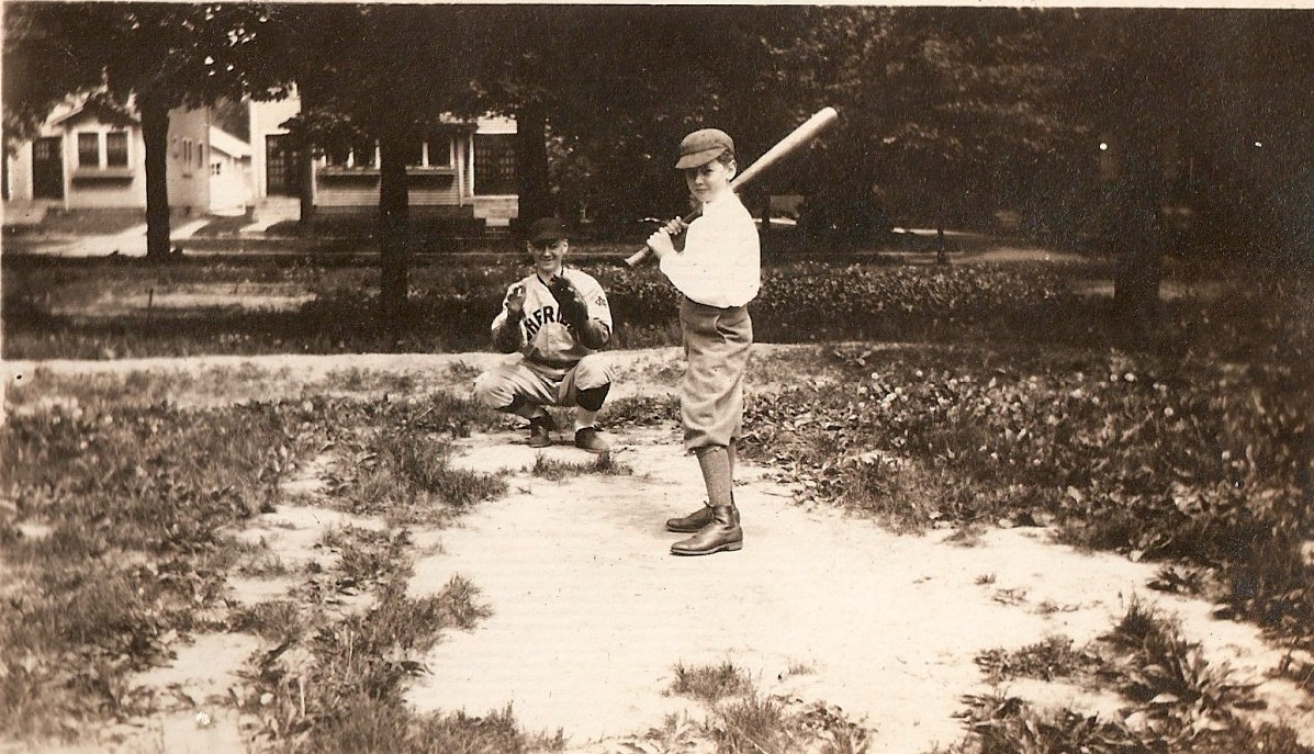 vintage irvington baseball practice along south audubon 1920s