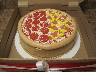pizza cake with tutorial