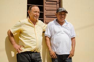 El gran Mingo con el cuñado de Diómedes, frente a la Ventana Marroncita. La Junta.