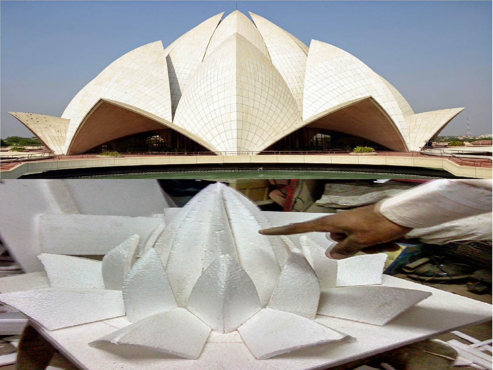 Hand Made Model of Delhi Lotus Temple image, picture, photos