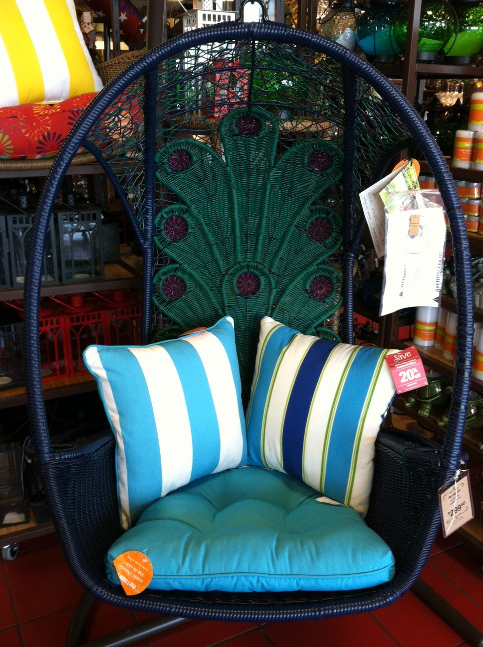 Thicket and thistle - Pier one peacock chair ...