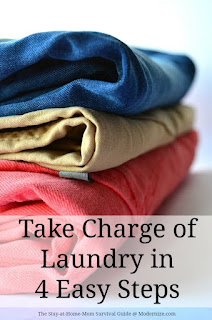It is time to take charge of your laundry situation! No more laundry burnout. These 4 easy tips will get us all on track to about getting overwhelmed by the laundry piling up.