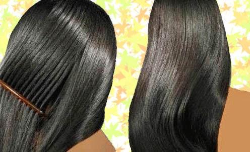 تطويل وتكثيف وتنعيم الشعر