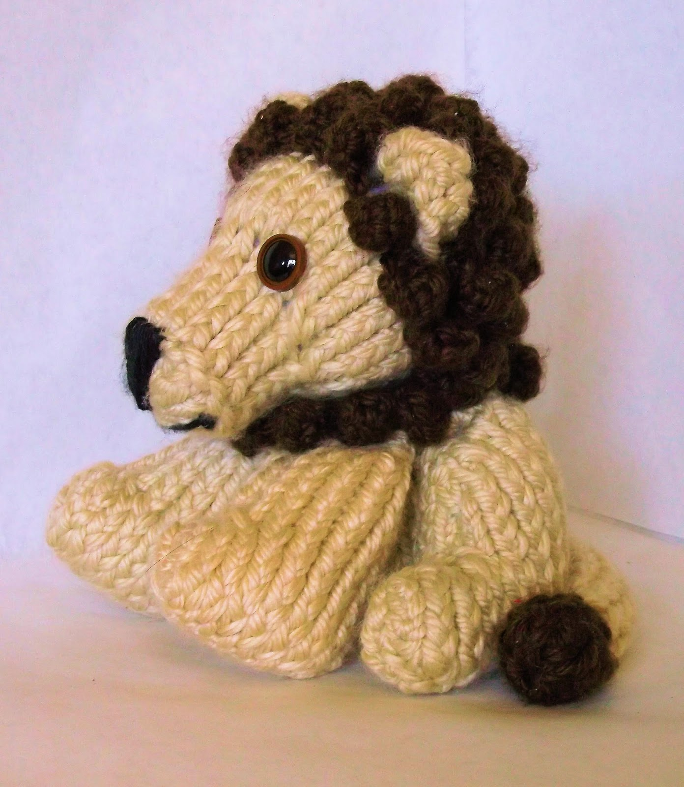 The Loom Muse How To Loom Knit A Lion Pattern