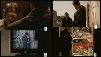 Fotogramas de escenas de la trama gay suprimida por TVE