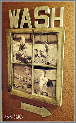 old window turned photo frame plus adding personal touches to home decor