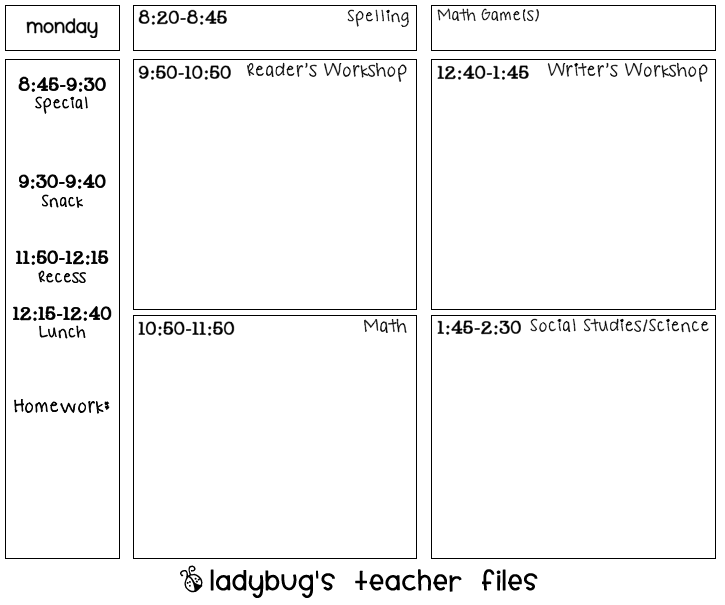 Printable lesson plan template new calendar template site for Day plan template for teachers