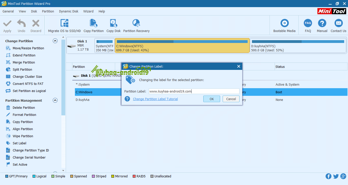 MiniTool Partition Wizard Professional Edition kuyhaa